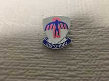"""Us Army 501St Airborne Infantry Regiment """"Geronimo"""" Pin"""