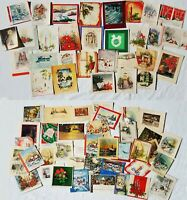 1920s 1930s LOT Vintage Christmas Card Lot - Over 60 Cards - Beautiful Antique
