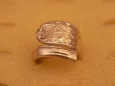 Spoon Ring Vintage Silverplate Silverware size 10 Melody circa 1954 Design