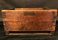 Antique Vintage Wood Crate Gazzosa Soda Box Cleveland Ohio RARE primitive
