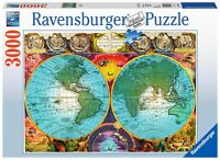 RAVENSBURGER 17074 MAPA ANTIGUO PUZZLE DE 3000 PIEZAS Antique World Map Jigsaw
