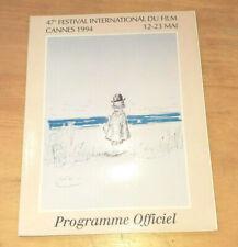 CINEMA PROGRAMME OFFICIEL DU FESTIVAL INTERNATIONAL DU FILM DE CANNES DE 1994