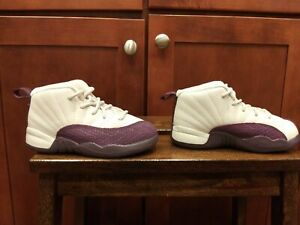 Nike Air Jordan 12 Desert Sand Purple (819666-001). Toddler Sz.9C SUPERB! Cond.