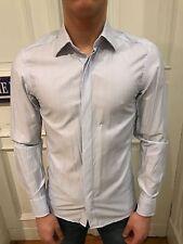 H&M Business Hemd Freizeithemd Shirt Gr. S blau liniert 100% Baumwolle wie NEU