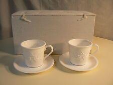 Republic of Tea PLUM BLOSSOM CUP & SAUCER (SET of 2) Beautiful Neutral Color Set