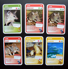 6x Woolworths Aussie Animals cards baby wildlife Australian collector swap red