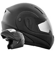 K71 Schwarz matt Klapphelm Motorradhelm Integralhelm ECE 2205 Flip Up Helm