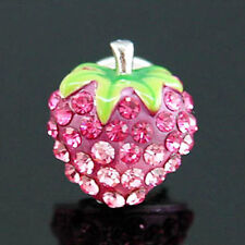 Pink Strawberry Pin Brooch use Swarovski Crystal SP004