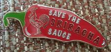 "SRIRACHA HOT SAUCE ""SAVE the SAUCE"" 1-1/4"" Lapel Pin"