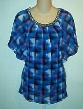 Alfani NWT  Embellished  Nylon Printed  Top  & Cami  XS