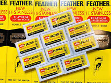 100 PCS Feather Double Edge Razor Safety Blades Original Made in Japan