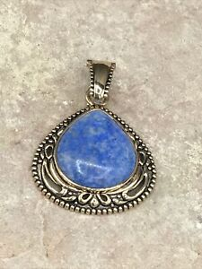 Barse Denizen Enhancer Pendant- Denim Lapis- Bronze- New With Tags