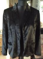 LAURA ASHLEY LADIES VINTAGE BLACK VELVET JACKET Size 16
