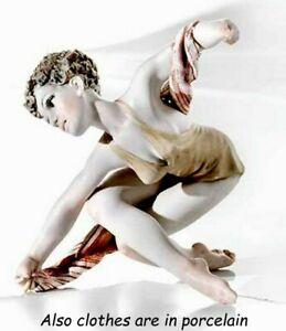 Statua in porcellana figurina ragazza ballerina in posa fatta a mano in Italia