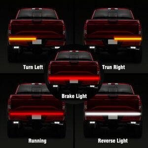 Car 3 in 1 Pickup Rear Bumper Tailgate Brake Reverse Signal LED Strip Light Bar