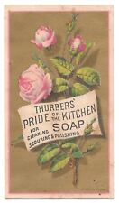 Pink rose on a gold background (Thurbers' Pride of the Kitchen Soap / Forbes)