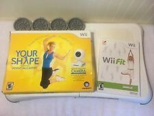 Nintendo Wii Fit Balance Board+ Work Out Game + Your Shape Camera + Fitness Disc
