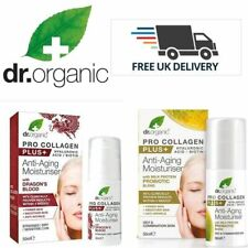 Dr.Organic Plus Anti-Aging Moisturiser Milk Protein Or Dragon's Blood 50ml. New