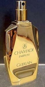 """VINTAGE GUERLAIN """"CHAMADE"""" 1 FL OZ.30ML PERFUME GOLD BOTTLE 1969"""