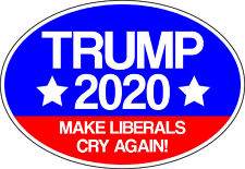 Trump 2020 Make Liberals Cry Vinyl Decal Window Bumper Sticker