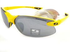 SUNWISE inc.3 extra lens sets WINDRUSH Sports Sunglasses Yellow / Grey Mirror