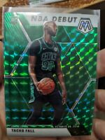 2020 Mosaic Tacko Fall (3x) Card Lot NBA Debut Green Prizm Insert Celtics