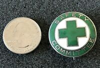 Vintage Green Cross Safety Committee Metal Badge Pin Pinback #35242