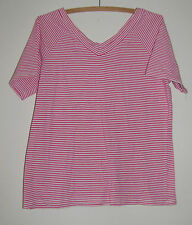 Ladies REGATTA Pink Striped Shirt Size 12