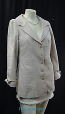 WORTH long suit JACKET BLAZER boyfriend top stictch sand light coat Size 4 S NEW