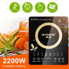 Portable Induction Hob Electric Kitchen Cooker Touch Control Hot Plate Ceramic