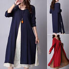 Pregnant Women Maternity Short Sleeve Casual Loose Dress Cotton Summer Clothes