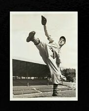 "1937 Carl Hubbell ""Winding Up"" TYPE 1 Original Photo New York Giants"