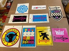 Gotcha 80's Surfboard Neon Radical wicked Vintage Surfing Og Sticker lot of 9