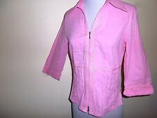 VERS Sharlene TOP size 8 NEW &tags light pink cotton zip up work casual summer