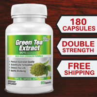 Green Tea Extract Pure - 180 Tablets - Antioxidant - EGCG capsules - Powder AUST
