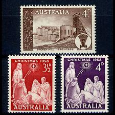 AUSTRALIA 1958 Broken Hill & Christmas SG 305, 306-307 Mint Never Hinged (AW199)