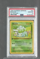 1999 GERMAN BASE 044/102 44 BULBASAUR BISASAM PSA 10 Pokemon