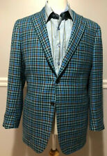 KITON Napoli cashmere Size 38 Sport coat Blue Brown Green checks Surgeon Cuffs