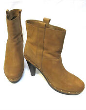 sz 37 / 6.5 COUNTRY ROAD Tan Raw Leather Ankle Boot vintage chic EUC! rp$200