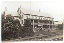ca 1910s NY RPPC Postcard Dresden Station New York Hotel Dresden RR Tracks KRUXO