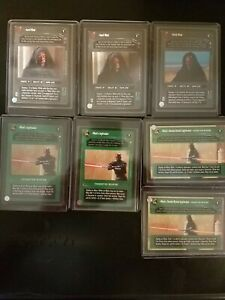 SWCCG Darth Maul + Lightsabers Rare Lot [Near Mint/Mint]