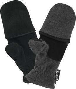 Herren Fleece Handschuhe mit Thinsulate und Klappe Magnet Handschuh