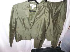 Jones New York Women's Silk 2 pc Suit with pants Size 12 NEW!