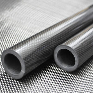 3K Carbon Fiber Tube OD30mm x ID 20mm 25mm 26mm 27mm 28mm Roll Wrapped Poles