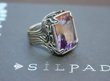 "SILPADA Oxidized Sterling Silver ""Lavender Fields"" Cocktail Ring R2001 Size 7"