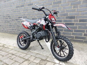 Pocketbike Dirtbike Pocket Cross 49cc Kinder Cross Crossbike KXD 708 Rot