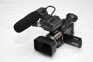 Sony HVR-A1E PAL HDV DVCAM MINI DV Camcorder black + sony XLR system+sony mic