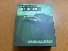 More details for 2015 perth mint  australian saltwater crocodile 1oz silver proof coin