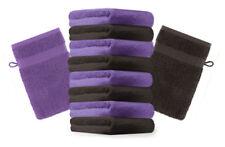 Betz lot de 10 gants de toilette Premium: marron foncé & violet, 16 x 21 cm