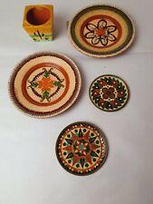 Vintage Holiday Plates Souvenirs Bundle Mexico Kitsch